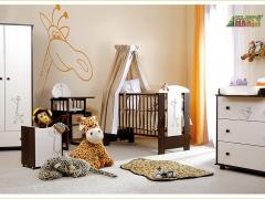 Łóżeczko niemowlęce Klupś Żyrafka Baby